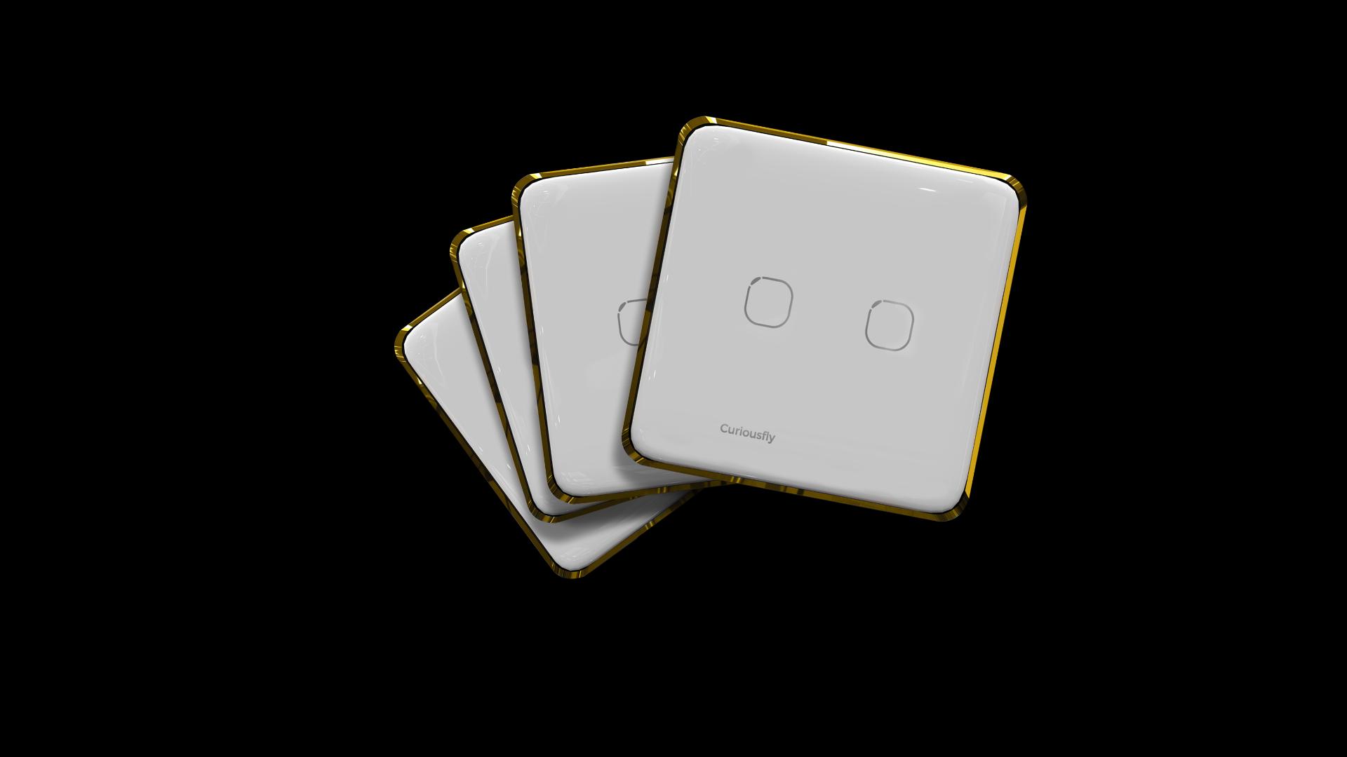 White Amber in Gold Frame