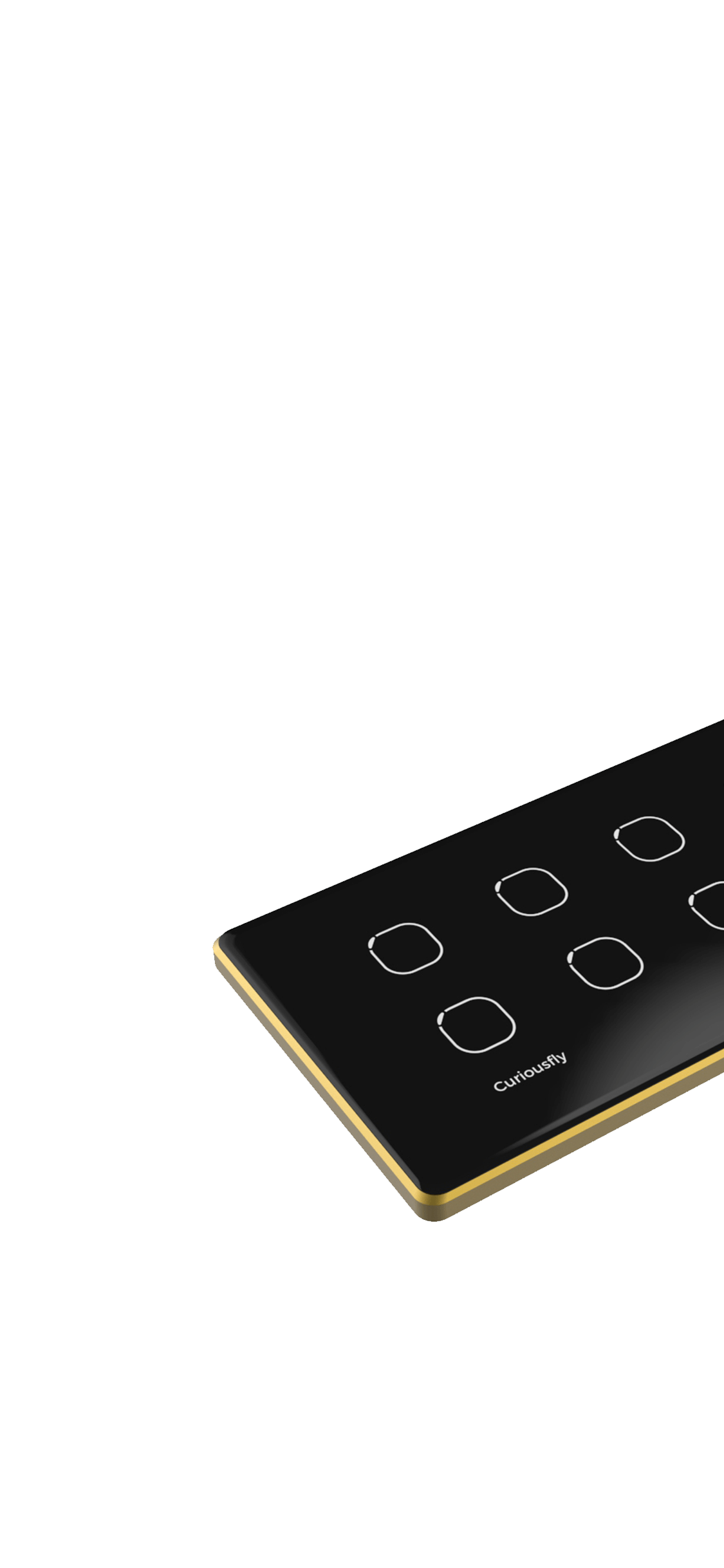 Black Amber in Gold Frame - Home Automation Device